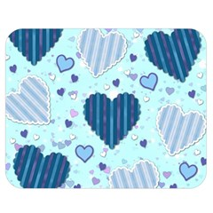 Hearts Pattern Paper Wallpaper Double Sided Flano Blanket (Medium)