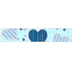 Hearts Pattern Paper Wallpaper Flano Scarf (Large)