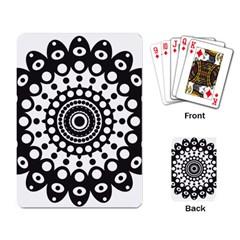 Mandala Geometric Symbol Pattern Playing Card