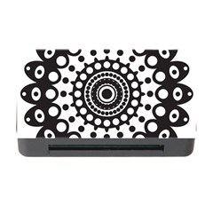 Mandala Geometric Symbol Pattern Memory Card Reader With Cf