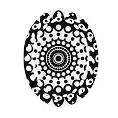Mandala Geometric Symbol Pattern Ornament (Oval Filigree)