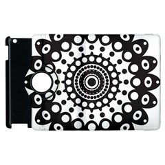 Mandala Geometric Symbol Pattern Apple Ipad 2 Flip 360 Case