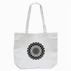 Mandala Geometric Symbol Pattern Tote Bag (White)