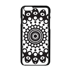 Mandala Geometric Symbol Pattern Apple iPhone 6/6S Black Enamel Case