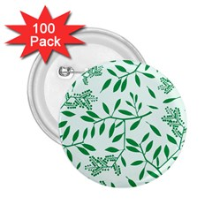 Leaves Foliage Green Wallpaper 2.25  Buttons (100 pack)