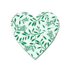Leaves Foliage Green Wallpaper Heart Magnet