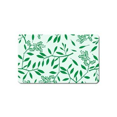 Leaves Foliage Green Wallpaper Magnet (Name Card)