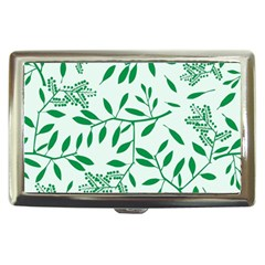 Leaves Foliage Green Wallpaper Cigarette Money Cases