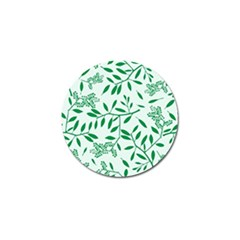 Leaves Foliage Green Wallpaper Golf Ball Marker (10 pack)
