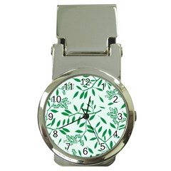Leaves Foliage Green Wallpaper Money Clip Watches