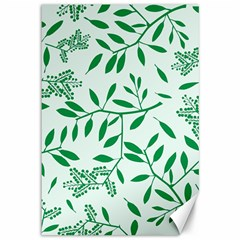 Leaves Foliage Green Wallpaper Canvas 12  X 18