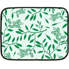 Leaves Foliage Green Wallpaper Double Sided Fleece Blanket (Mini)