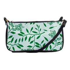 Leaves Foliage Green Wallpaper Shoulder Clutch Bags