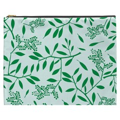 Leaves Foliage Green Wallpaper Cosmetic Bag (XXXL)