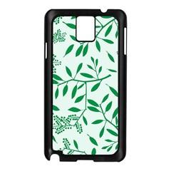 Leaves Foliage Green Wallpaper Samsung Galaxy Note 3 N9005 Case (black)