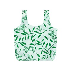 Leaves Foliage Green Wallpaper Full Print Recycle Bags (s)