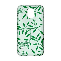Leaves Foliage Green Wallpaper Samsung Galaxy S5 Hardshell Case