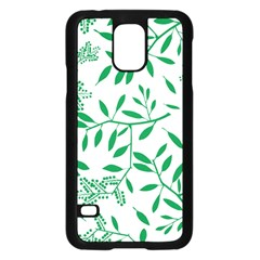 Leaves Foliage Green Wallpaper Samsung Galaxy S5 Case (Black)