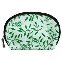 Leaves Foliage Green Wallpaper Accessory Pouches (large)