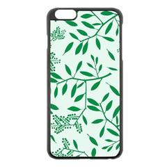 Leaves Foliage Green Wallpaper Apple Iphone 6 Plus/6s Plus Black Enamel Case