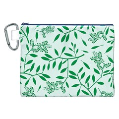 Leaves Foliage Green Wallpaper Canvas Cosmetic Bag (XXL)