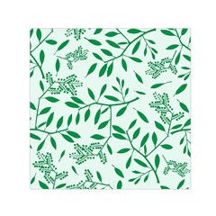 Leaves Foliage Green Wallpaper Small Satin Scarf (Square)