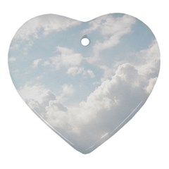 Light Nature Sky Sunny Clouds Ornament (Heart)