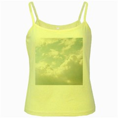 Light Nature Sky Sunny Clouds Yellow Spaghetti Tank