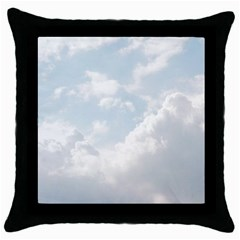 Light Nature Sky Sunny Clouds Throw Pillow Case (Black)