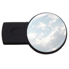 Light Nature Sky Sunny Clouds USB Flash Drive Round (1 GB)