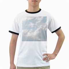 Light Nature Sky Sunny Clouds Ringer T Shirts