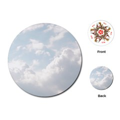 Light Nature Sky Sunny Clouds Playing Cards (round)