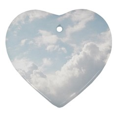Light Nature Sky Sunny Clouds Heart Ornament (Two Sides)