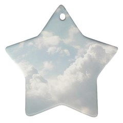 Light Nature Sky Sunny Clouds Star Ornament (Two Sides)