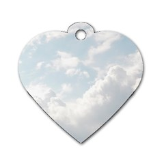 Light Nature Sky Sunny Clouds Dog Tag Heart (One Side)
