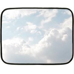 Light Nature Sky Sunny Clouds Fleece Blanket (Mini)