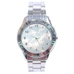 Light Nature Sky Sunny Clouds Stainless Steel Analogue Watch