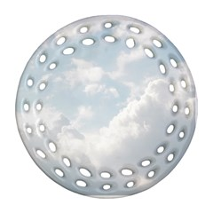 Light Nature Sky Sunny Clouds Round Filigree Ornament (two Sides)