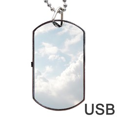 Light Nature Sky Sunny Clouds Dog Tag Usb Flash (two Sides)