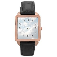 Light Nature Sky Sunny Clouds Rose Gold Leather Watch