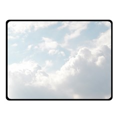Light Nature Sky Sunny Clouds Double Sided Fleece Blanket (Small)
