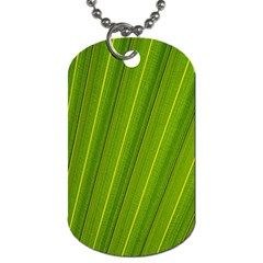 Green Leaf Pattern Plant Dog Tag (two Sides)
