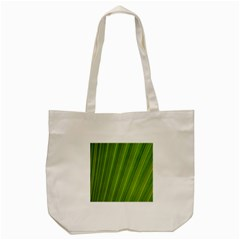 Green Leaf Pattern Plant Tote Bag (Cream)
