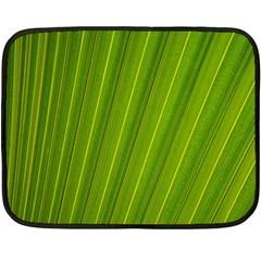 Green Leaf Pattern Plant Double Sided Fleece Blanket (Mini)
