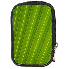 Green Leaf Pattern Plant Compact Camera Cases