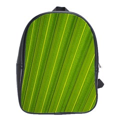 Green Leaf Pattern Plant School Bags(Large)