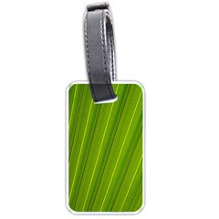Green Leaf Pattern Plant Luggage Tags (Two Sides)