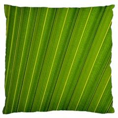 Green Leaf Pattern Plant Large Cushion Case (one Side)