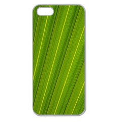 Green Leaf Pattern Plant Apple Seamless iPhone 5 Case (Clear)