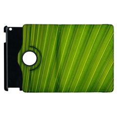 Green Leaf Pattern Plant Apple iPad 2 Flip 360 Case